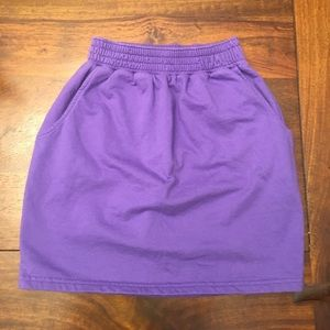 American Apparel cotton skirt with pockets